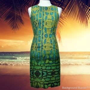 MUSE Dress Reptile Print NWT Sleeveless Size 0